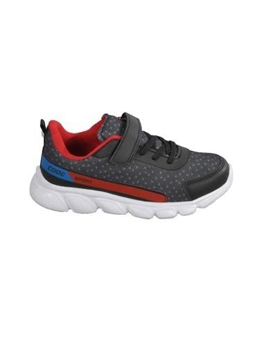 Cool 20-S02 Siyah-Kırmızı Çocuk Spor Ayakkabı Siyah